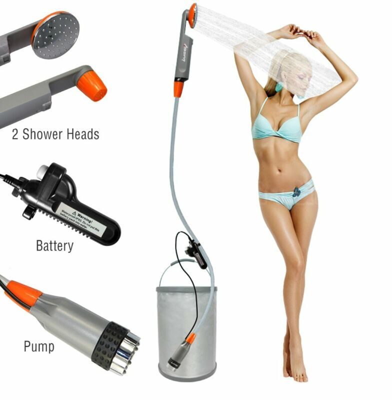 Portable Camping Shower Pump with USB Rechargeable Battery Bidet