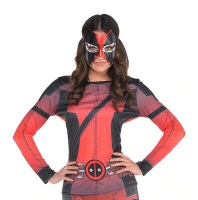 Marvel Comics Lady Deadpool COSPLAY Long Sleeve Costume Top Size Adult L/XL - Deadpool Woman Costume