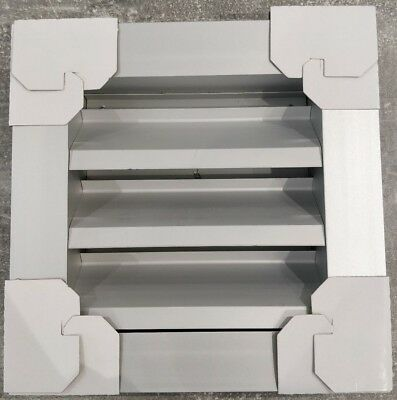 150 x 150 mm Aluminium Silver Weather Louvre Grill