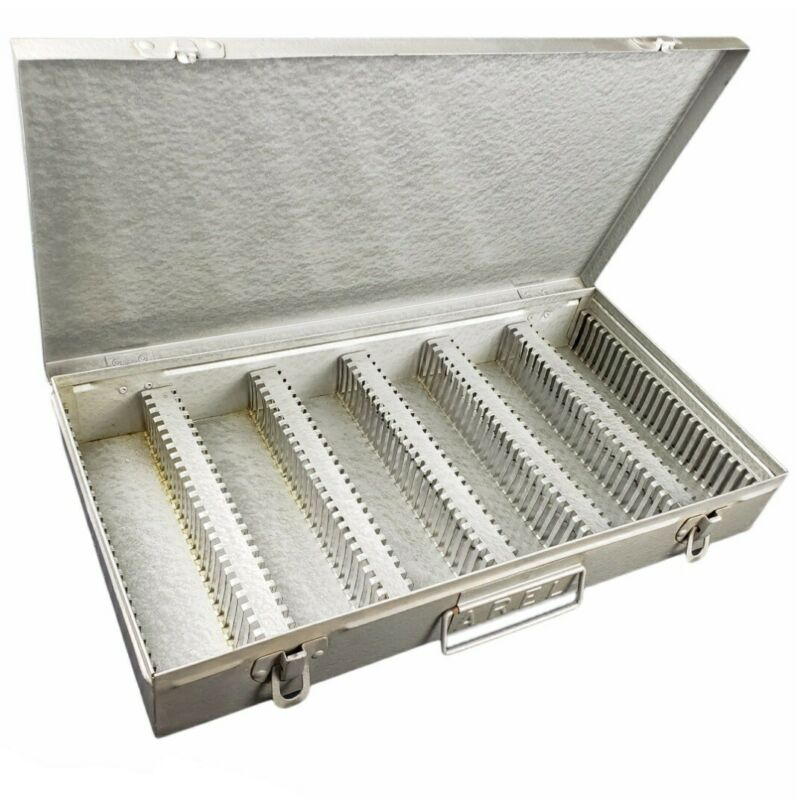 Metal Case Slide 2×2 Coin Flips Tray File Storage Holder Box 150 Slot 35mm Film