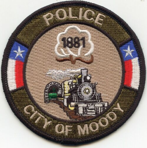MOODY TEXAS TX Train POLICE PATCH