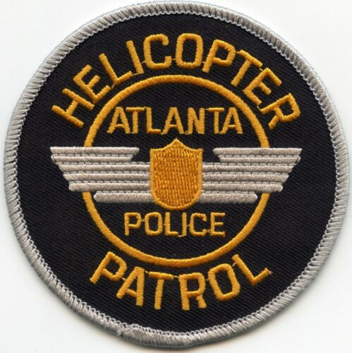 old style ATLANTA GEORGIA GA HELICOPTER PATROL Aviation POLICE PATCH
