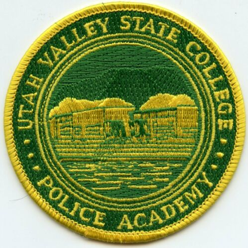 UTAH UT VALLEY STATE COLLEGE POLICE ACADEMY POLICE PATCH