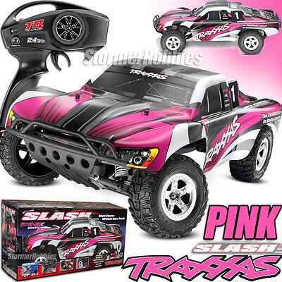 Traxxas Slash XL-5 2WD RTR w/TQ 2.4GHz Short Course Electric RC Truck 58024 PINK