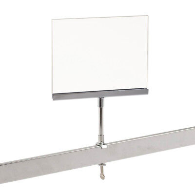 Universal Retail Rack Acrylic Frame Clamp On 5.5 X 7 Sign Holder Card Display