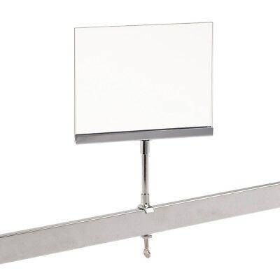 Universal Retail Rack Acrylic Frame Clamp On 5.5 X 7 Sign Holder Card Display