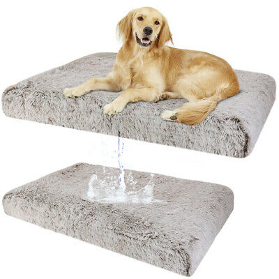 Deluxe Large Dog Bed Pet Cushion Soft Pad Cozy Foam Crate Washable Mat covid 19 (Large Pet Pad coronavirus)