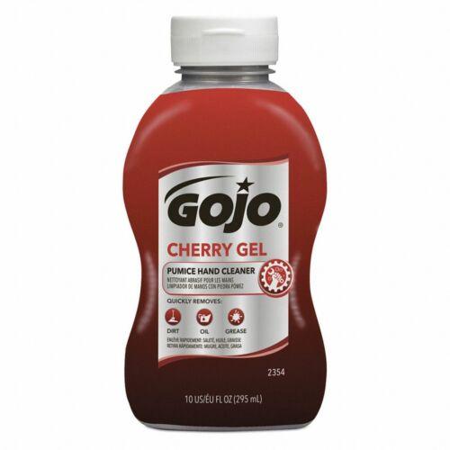 Gojo 2354-08 Cherry Gel Pumice Hand Cleaner Degreaser Squeeze Bottle, 10 oz.