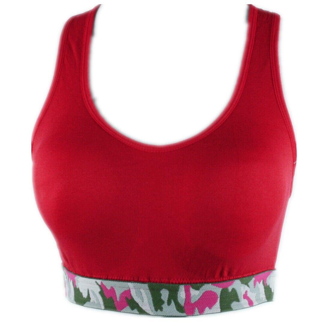 Damen Sport BH Comfort BH Soft-Einlage Bustier Bra Top Push Up  #3133