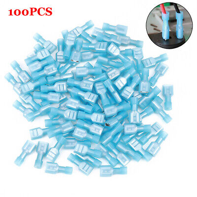 100x 16-14 Awg Fully Insulated Female Spade Quick Splice Wire Disconnect Durable