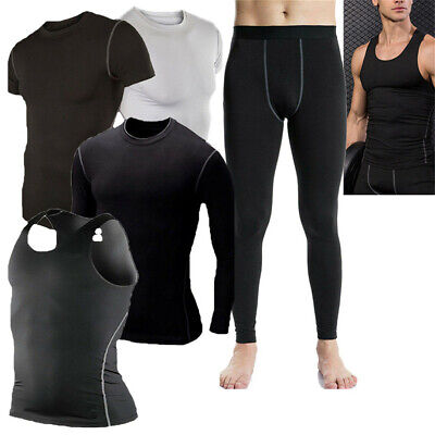 Athletic Spandex Tights - Mens Compression Tights Athletic Base Layers Spandex Sports Vest Pants Quick-dry