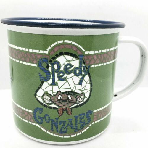 Vintage Speedy Gonzales 1995 Warner Bros Enamel Metal Camping Coffee Mug