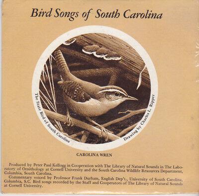 """BIRD SONGS OF SOUTH CAROLINA - Dr. Kellogg, Cornell U. (7"""" 33) (Still Sealed)"""