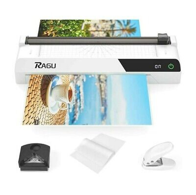 Ragu Black 6 In 1 Thermal Laminator With Touchscreen A4 Machine Set Gs284 White