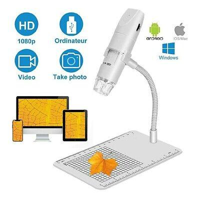 Wireless Digital Microscope Handheld Usb Microscope Camera With 8 Adjustable Led