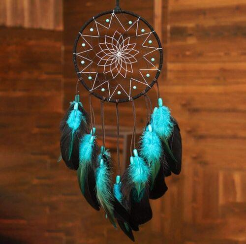 Blue Dream Catchers Handmade Boho Traditional Circular Net Wall Hanging Decorate