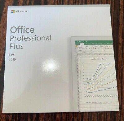 Microsoft Office 2019 Professional Plus Retail DVD for Windows 10 1PC RETAIL