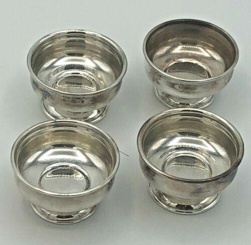 "Tiffany & Company Sterling Silver set of 4 Salt Cellars 7/8"" x 1.5"""