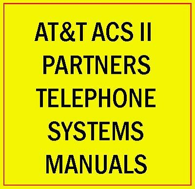 Att Acs Ii Partner Phone System Manual Guide Lucent Avaya Plus Mail Endeavor Cd