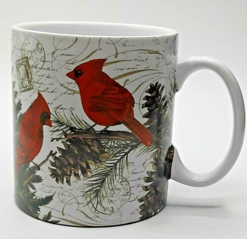 TOMMY BAHAMA CHRISTMAS Cardinals Coffee Mug RARE!