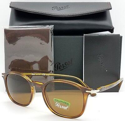 NEW PERSOL sunglasses PO3182S 104357 51mm Tortoise Polarized Brown Round (Persol Brown)