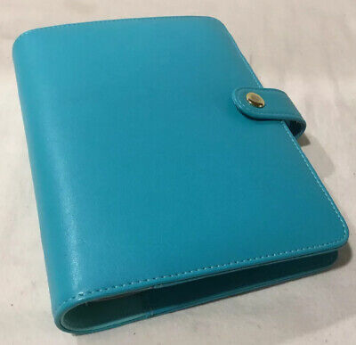 Pocket Planner Faux Leather Tiffany Blue Color 6 Ring Binder 8 X 6