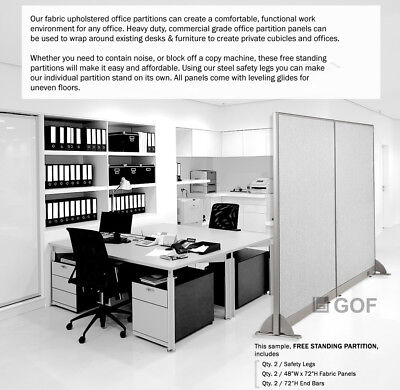 Gof 48h 60h 72h Freestanding Office Partition Room Divider Cubicle Panel