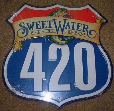 SWEETWATER 420 road trout METAL TACKER SIGN craft beer Atlanta brewery brewing