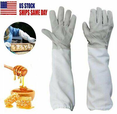 1 Pair Beekeeping Protective Gloves Xl Bee Keeping Vented Long Sleeves Outdoor