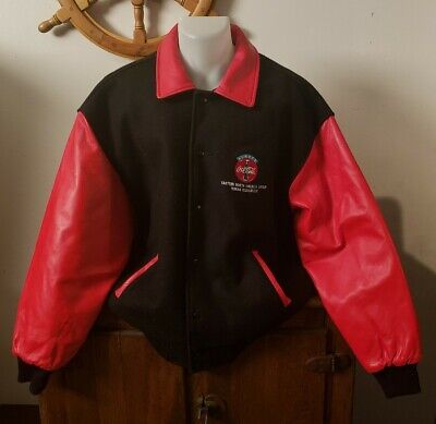 VTG 90's Coca Cola Leather Varsity Jacket.
