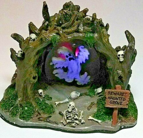 Lemax Spooky Town Collection Haunted Grove 2006 Light Up Ghost Retired New Boxed