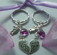 Best Friends Keyring Bag Charms Friendship Bff Gift Friend Friendship Keyrings - bella4641 - ebay.co.uk