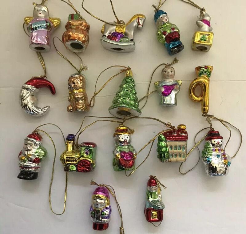 Ceramic Mini Ornaments Set Of 17 Kurt Adler? EUC