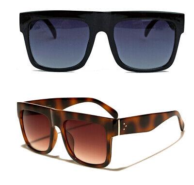 Herren Retro Sonnenbrille Flat Top Designer Stil 80er Jahre Old School SN26