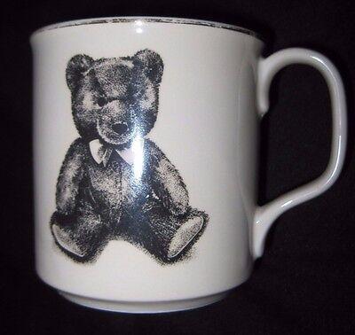 (Teddy Bear Ceramic Mug, Small World Greetings, Made In Japan (Used/EUC))