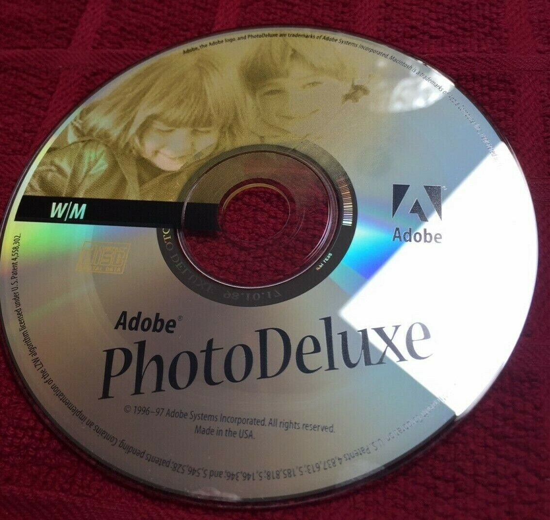 Adobe Photo Deluxe v2.0 Windows - Macintosh 1996 / 97 CD Software Disc Only