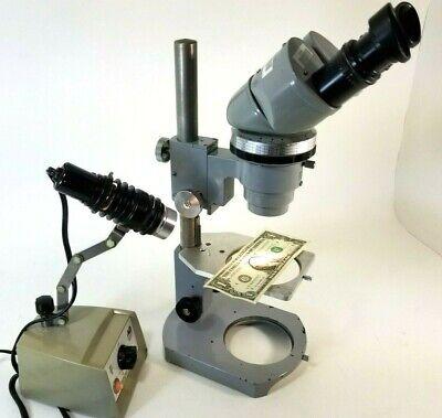 Vintage Nikon Stereo Microscope 65068 Nippon Kogaku Tokyo W Stand Ao 655 Light