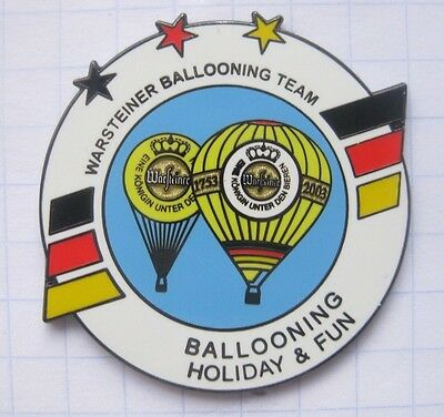 HOLIDAY & FUN  / WARSTEINER BALLOONING TEAM  ... Bier-Ballon-Pin (126i)