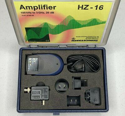 Rohde And Schwarz Hz-16 1147.2720.02 Rf 100khz To 3ghz 20db Amplifier