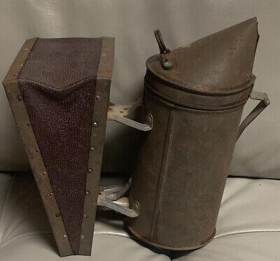 Vintage Antique Primitive Honey Bee Smoker Bellows Beehive Tool