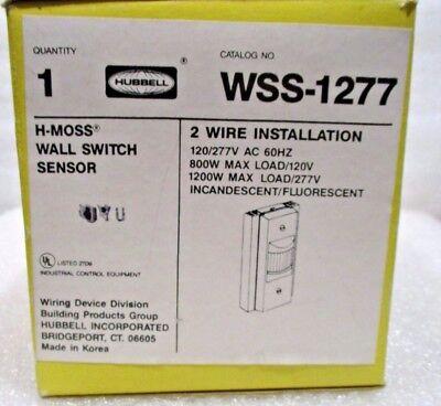 1 Hubbell Wss-1277 H-moss Wall Sensor Switch 2 Wire
