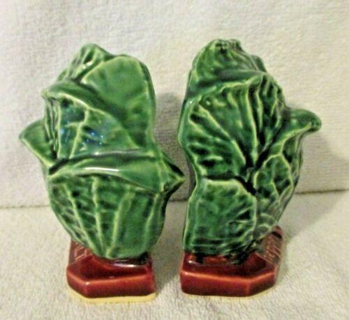 Vintage McCoy Cabbage Salt & Pepper Shakers SUPERB