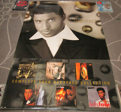 Christmas With BABYFACE, Orig Sony 2-sided Promo Poster, 1998, 24x36, VG, R B - $7.99