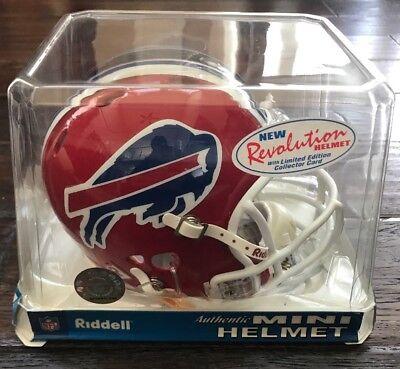 Buffalo Bills Authentic Riddell Revolution Mini Helmet 2002-2010 NEW! 2002 Buffalo Bills