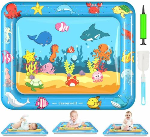 Tummy Time Water Mat Baby Toys 3 6 9 12 Months Old 30X24 Inches X-Large Infant T
