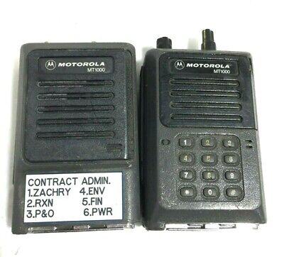 X2 - Motorola Mt1000 Radio Tops For Handie-talkie Fm Portable Radio