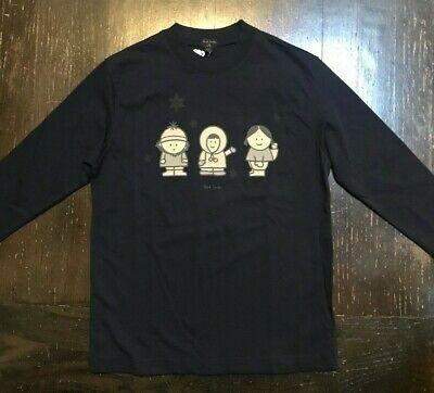 NWT Paul Smith Junior Boys Black Cotton Tee w Eskimos Sz 5/6 $100