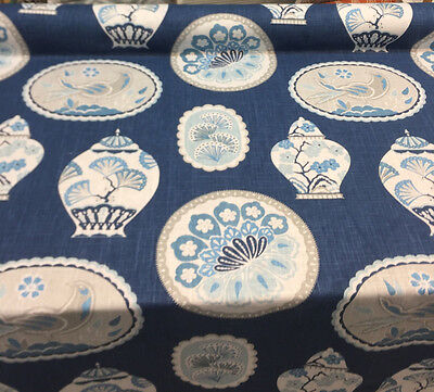 P Kaufmann Imperial Treasure Sapphire Birds Multipurpose Fabric By The Yard, used for sale  Los Angeles