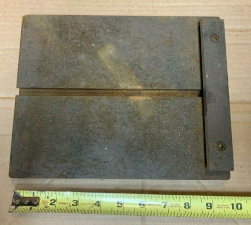 """small Machinist table  slotted work surface  or surface plate 10"""" x 8"""" used"""