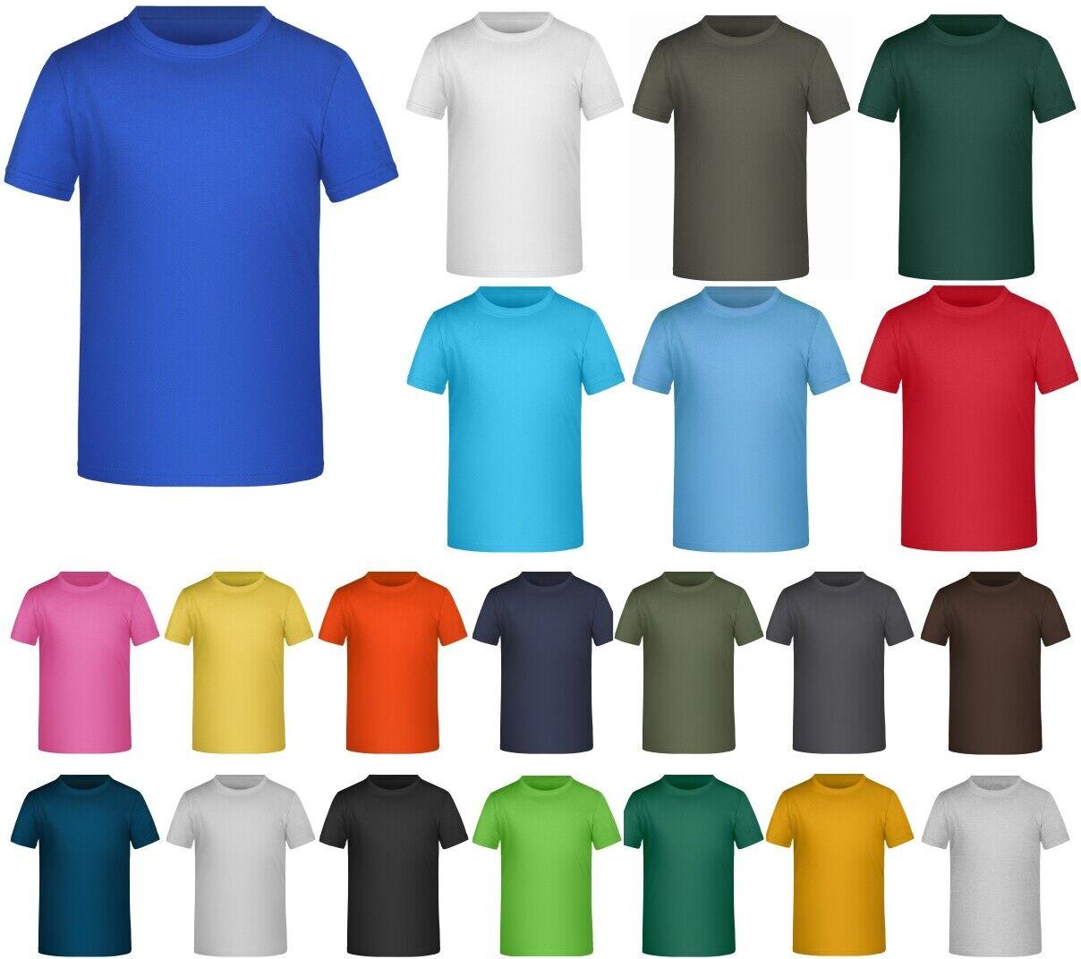 Kinder T-Shirt für Jungen und Mädchen 98 - 164 Baumwolle Basic Shirt